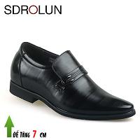 Giày cao thương hiệu quốc tế chính hãng màu đen lịch lãm 2019; MS 23013D