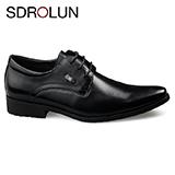 Giày công sở buộc dây hàng hiệu Sdrolun 2020: N21812 - đen