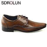 Giày công sở nhập khẩu Savato buộc dây màu nâu bò Mã BD99205N