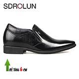 Giày lười công sở nâng đế 6Cm hiệu AOLUNBIN Màu đen Mã GCL00655-7D