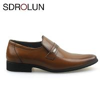 Giày lười công sở nhập khẩu sdrolun cao cấp màu nâu 2018; Mã số GL3309102N