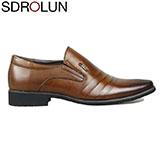 Giày lười công sở SDrolun màu nâu vàng bò mới nhất mã GL21817NV