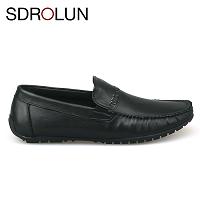 Giày lười màu đen da dê nguyên chất nhập khẩu 2018; Mã số GL1720D