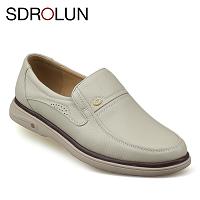 Giày lười màu trắng sữa quý phái mang đậm khí chất CEO; Mã số GL88832T