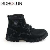 Giày nam cao cổ màu đen chính hãng swag GCC9983D