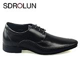 Giày nam công sở nhập khẩu Savato buộc dây màu đen Khâu viền Mã BD99205D